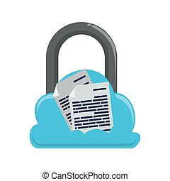 secure padlock isolated icon
