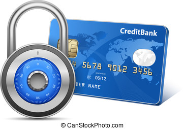 Secure Payment Concept - Secure Payment. Credit card and...