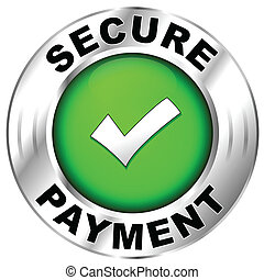 Vector illustration of label for secure payment