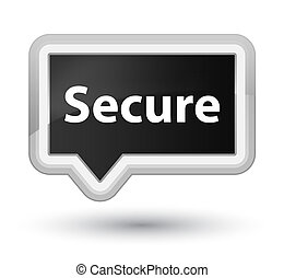 Secure prime black banner button