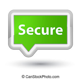 Secure prime soft green banner button