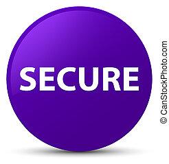 Secure purple round button