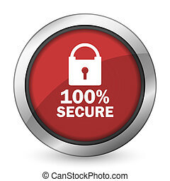 secure red icon