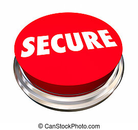 Secure Safety Protection Crime Prevention Button 3d Illustration