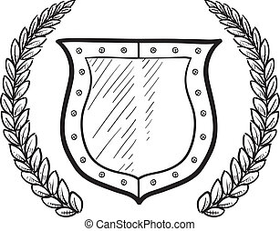 Secure shield or blank heraldry