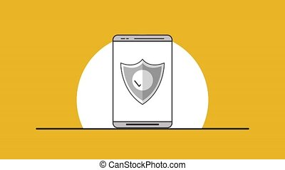 Secure smartphone antivirus HD animation - Secure smartphone...