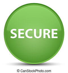 Secure special soft green round button