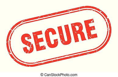 secure stamp. secure square grunge sign. secure
