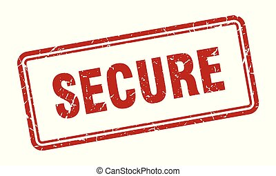 secure stamp. secure square grunge sign. secure