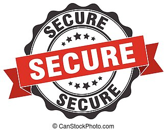 secure stamp. sign. seal