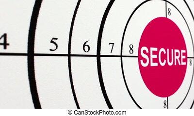 Secure target concept dolly shot