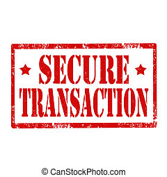 Secure Transaction-stamp - Grunge rubber stamp with text...