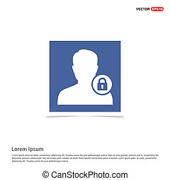 Secure User Icon - Blue photo Frame