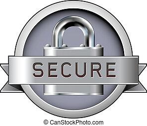 secure, vektor, emblem