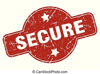 secure vintage stamp. secure sign