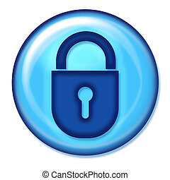 Secure Web Button - BLue secure button
