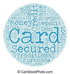 Secured Credit Cards text background wordcloud concept