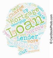 Secured Loans Primer text background wordcloud concept