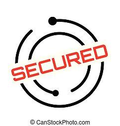 secured rubber stamp