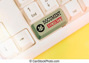 security., テキスト, 概念, セキュリティー, すべて, 執筆, 文書, 重要, 維持, 手書き, archives., 意味