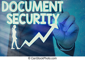 security., テキスト, 概念, セキュリティー, すべて, 文書, 重要, 維持, 手書き, archives., 意味