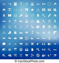 security 100 icons set for web - security 100 icons set for...