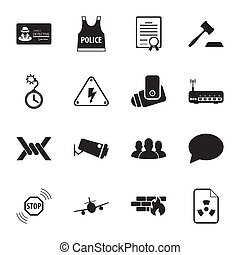 security 16 icons universal set for web and mobile