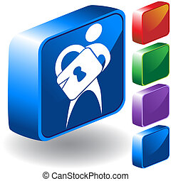 Security 3D Icon
