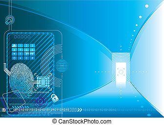 Security Access - Security access concept of vector...