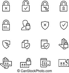 security and password icons