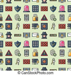 Security and safe icons set,eps10
