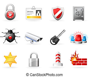 Security and Safety icons - Computer and Office Security...