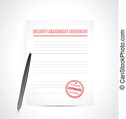 security assignment agreement illustration