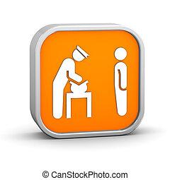 Security Bag Check Sign - Security Bag Check sign on a white...