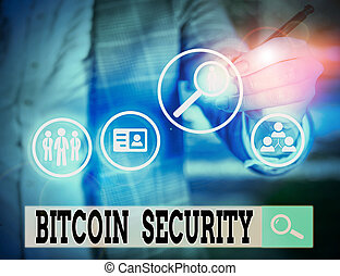 security., bitcoin, photo, showcasing, public, cryptography,...