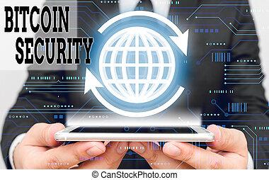security., bitcoin, signification, écriture, public,...