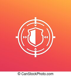 security breach, cyber attack vector icon, eps 10 file, easy to edit