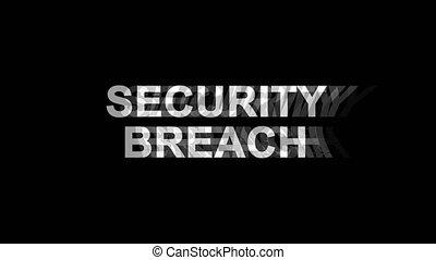 Security Breach Glitch Effect Text Digital TV Distortion 4K Loop Animation