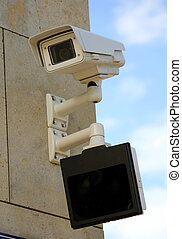 Security camera and screen under