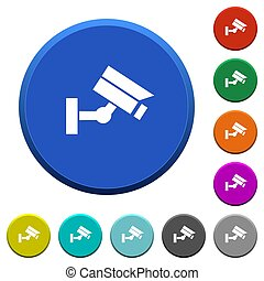 Security camera beveled buttons