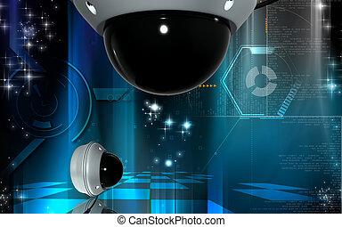 Security camera - Digital illustration of security camera in...