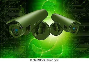 security camera - Highly quality rendering of security...