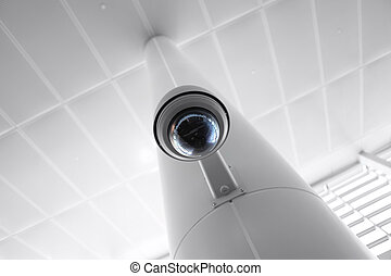 Security Camera in Government Owned Building - Overhead...