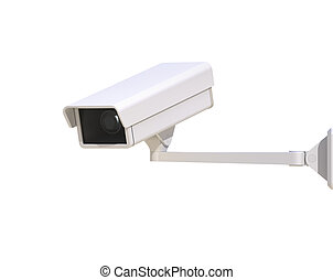 Security Camera Isolated on the White Background