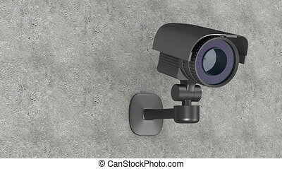 security camera on wall. 3D render