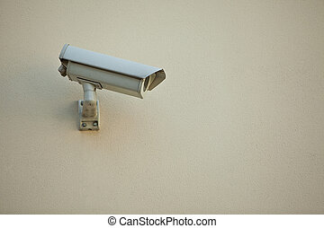 Security camera on wall of modern building