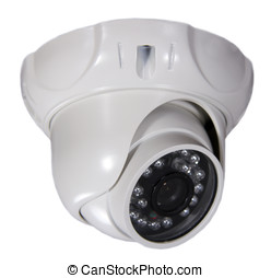 security camera on white background. Isolated