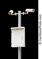 Security Camera or CCTV isolated with clipping path