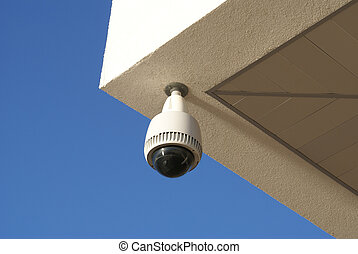Security camera - White and black security cctv camera to...