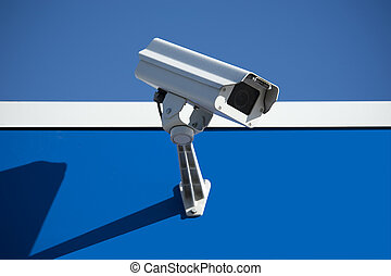 Security camera - Security surveillance camera on the side...